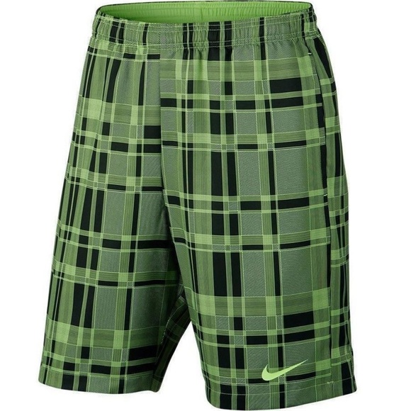 Dry Tennis Poshmark Drifit Plaid Green M ShortsCourt Nike nPkXO08w